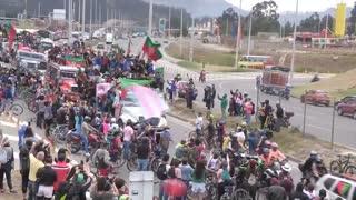 Video: La Minga espera al presidente en Bogotá