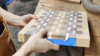 Making handheld cutouts for a cutting board