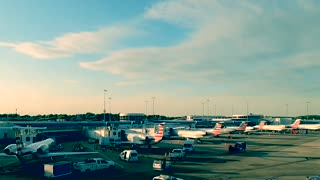 Time lapse Charlotte Airport
