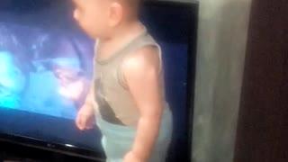 Little boy dances well