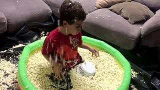 Pool of Popcorn Birthday Surprise