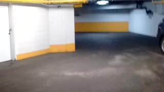 Scary parking garage under the hotel