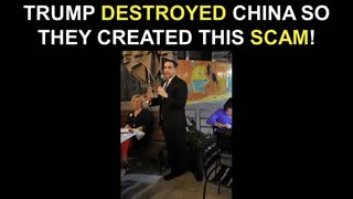 Trump Destroyed China So They Created This Scam!