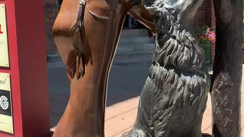 Cowboy Statue in Durango Colorado