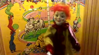 Creepy dancing clown
