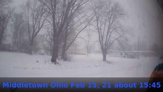 Feb 15, 2021 Middletown Ohio Snow Storm