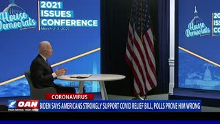 Biden says Americans strongly support COVID relief bill, polls prove him wrong