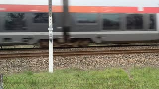 a passing train