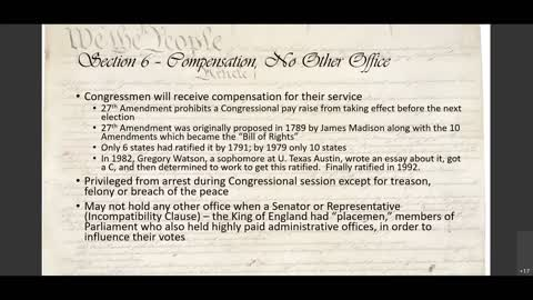 US Constitution, Article I explained