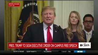 Trump Signs Massive Executive Order, Will Protect Free Speech on College Campuses