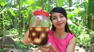 Yummy cooking eggs recipe _ Cooking skills _ Khmer Survival Skills