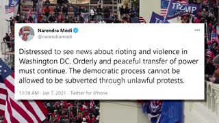 World leaders condemn violent scenes in U.S.