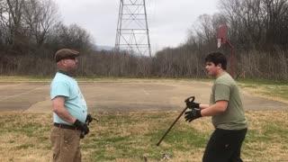 Two man block strike drill