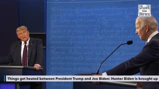 The president brings up Hunter Biden in the debate