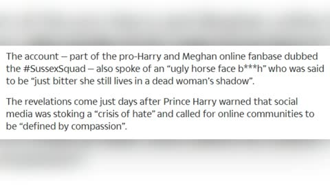 Meghan Markle, Prince Harry + SussexSquad trolls