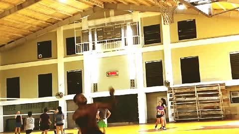 Obinna Ezeike basketball dunk practice UPHSD Gym Philippines