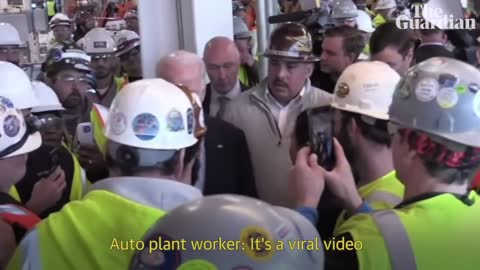 Michigan for weapons, Joe Biden struggles with an auto worker