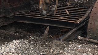 Railroad bridge tear out.