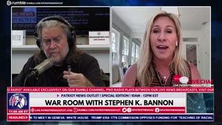 Marjorie Taylor Greene speaks with Steve Bannon | 5/26/2021