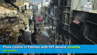 Plane crashes in Pakistan with 107 aboard, possible survivors