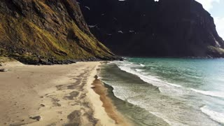 Beautiful Secluded Beach in Norway Captured via Drone