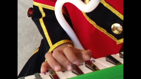 Little girl with music instrument