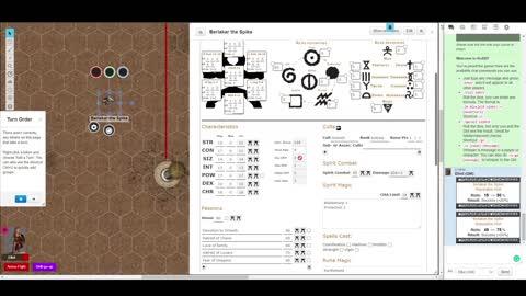 RuneQuest Character sheet pro