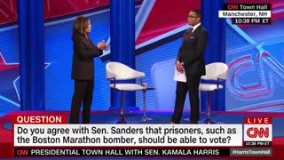 Kamala Harris wants a conversation about voting rights for jailed terrorists