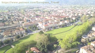 Drone footage over Lucca, Italy 4
