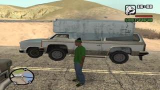 GTA: San Andreas glitch - A car stuck inside another car