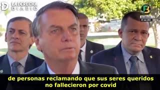 Bolsonaro: El 50% de los fallecidos no fueron por covid, inflaron las cifras