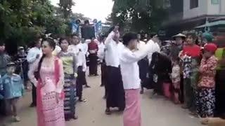 Myanmar Wedding Dance