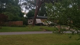 Storm Blows Tree Over into Power Lines