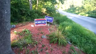Trump signs installed!
