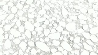 Imágenes aéreas de las fuertes nevadas en Chicago y el Lago Michigan