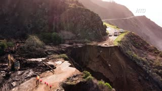 California Highway 1 Near Big Sur Collapses