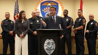 Gov DeSantis Reinforces Support for Law Enforcement