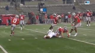Big Hitting Ohio State Football safety Bryson Shaw