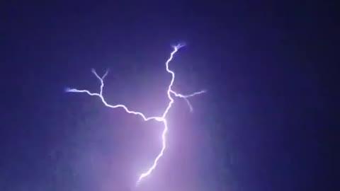 Glorious slow motion captures incredible lightning strike