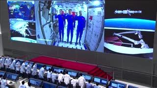 China's Xi holds video call with astronauts