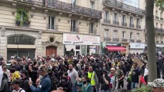 Paris, France: Protests Against Macron's Health Passes & Mandatory Vaccinations