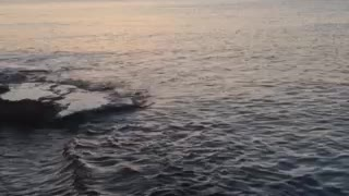 Greek island sunset summer time