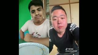 Food challenge between 2 fellows