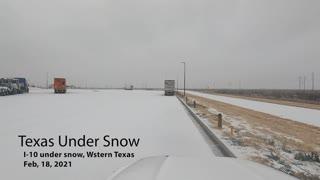 Texas Under Snow