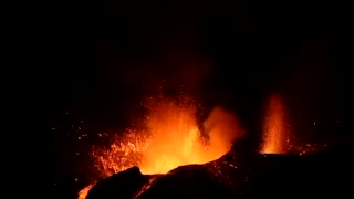 Volcano erupted on Fogo Island, Cape Verde
