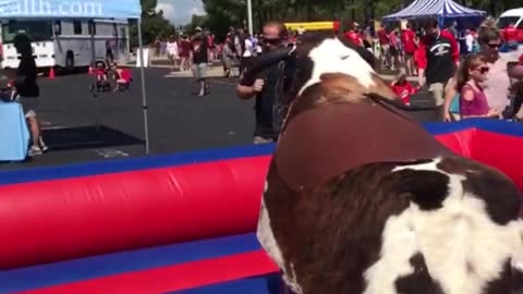 Funny Mechanical Bull Fails - Better hold on tight! 🙊