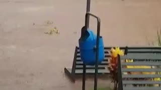 heavy rains in Brazil leaves everything destroyed