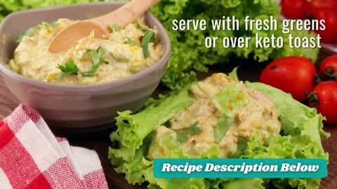 Keto Recipe | Curry Spiked Tuna and Avocado Salad | Keto Diet Plan for Weight Loss