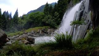 Waterfalls mountains river water