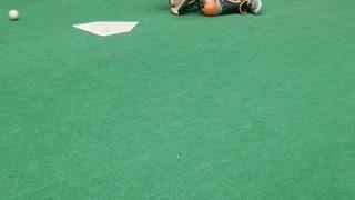 9 year old Cam working on blocking